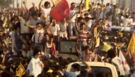 image of EDSA I Revolution, in 1986